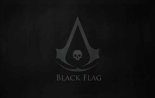 Картинка black, flag, Creed, Assassins