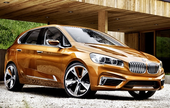 Картинка Concept, BMW, Концепт, Orange, Car, New, Active, Бмв, Tourer, Outdoor