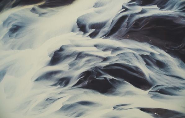 Картинка вода, земля, вид сверху, роздив