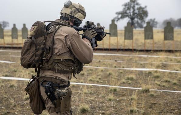 Картинка оружие, армия, солдат, тренировка