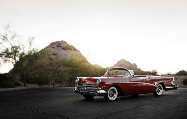 Картинка кабриолет, 1957, Convertible, Buick, бьюик