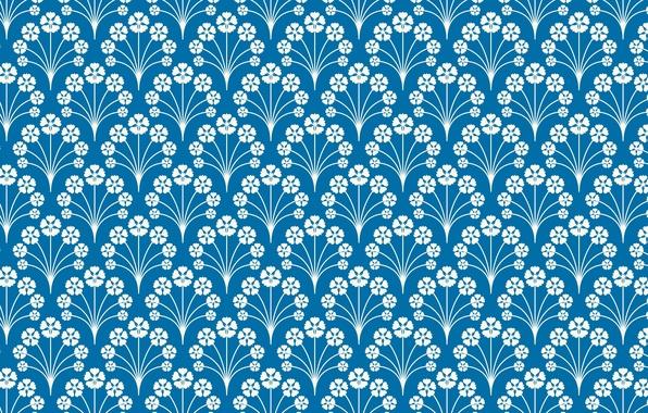 Картинка голубой, узор, орнамент