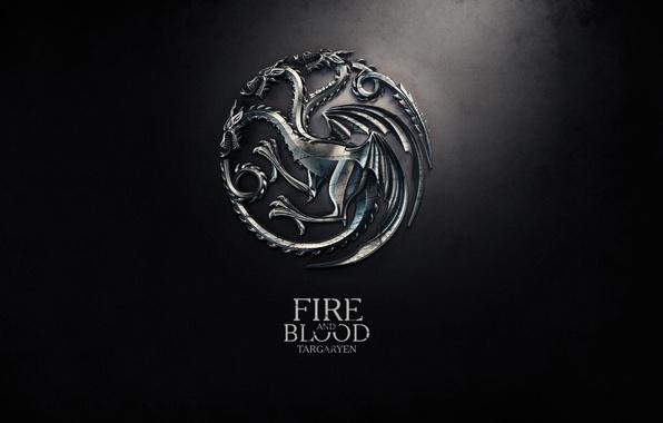 Картинка дракон, герб, девиз, Game of Thrones, Игра престолов, fire and blood, The Song of Ice …