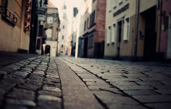 Картинка улица, здания, брусчатка