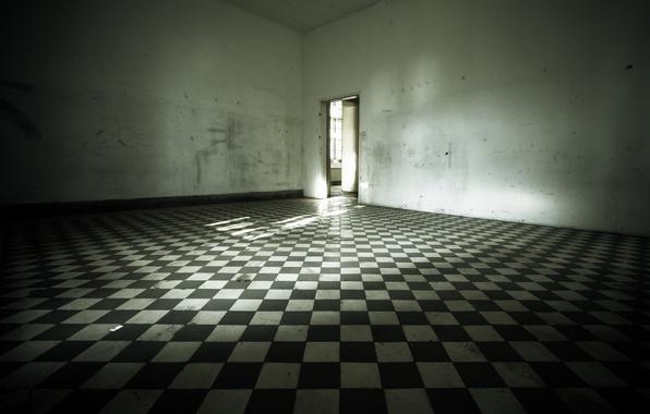Картинка комната, дверь, пол