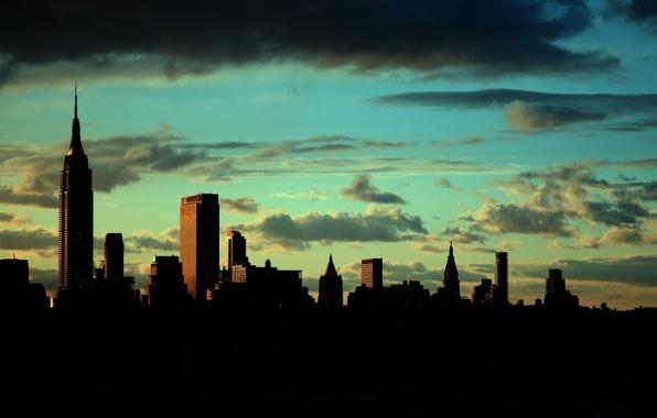 Картинка город, new york, empire state building