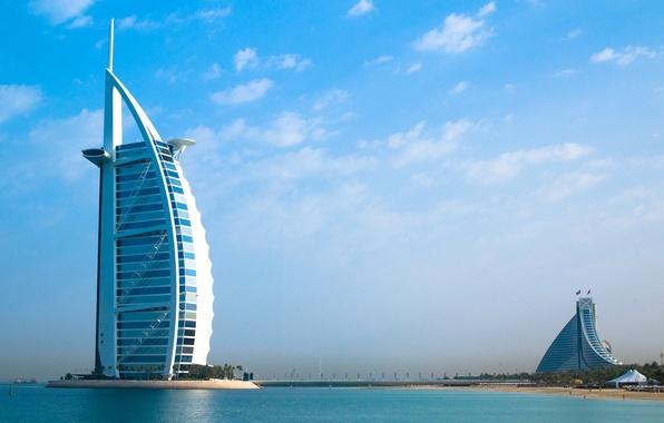 Картинка Дубаи, Бурдж аль-Араб, отель, Dubai, ОАЭ, Burj al Arab