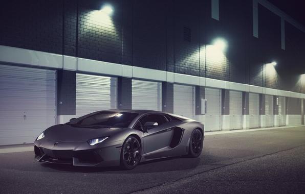 Картинка Lamborghini, Front, LP700-4, Aventador, Supercar, Ligth, Nigth, Bumper