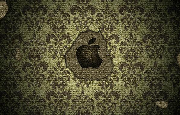 Картинка apple, яблоко, текстура, логотип, mac, logo