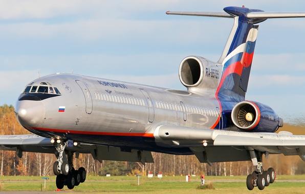 Фото обои Aeroflot, Tu-154M, Ту-154, Tupolev, Ту-154М, Туполев, аэрофлот