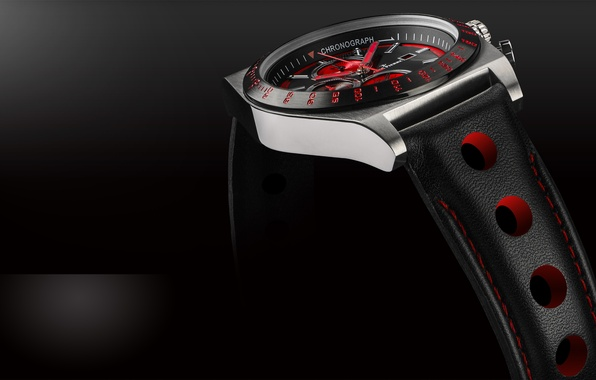 Картинка red, black, clock, watches