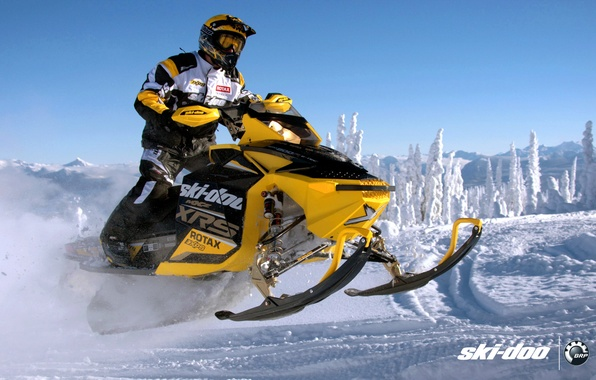Обои картинки фото ski-doo, skidoo, mxz, xrs, rotax, snowmobile, снегоход, brp
