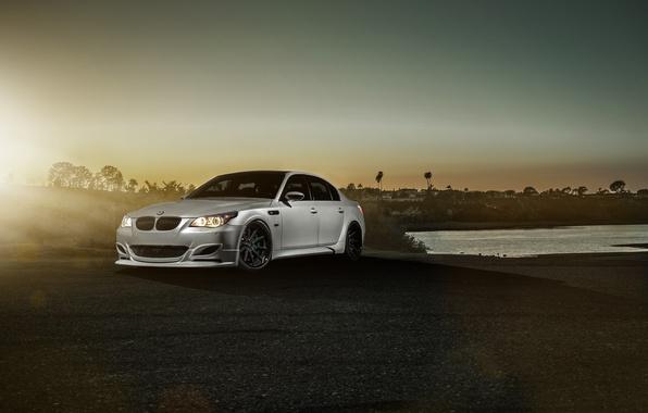 Картинка BMW, Car, Carbon, Front, Sunset, Sunrise, Sport, Sedan, Fiber, Saloon, Balloon White, GTS60