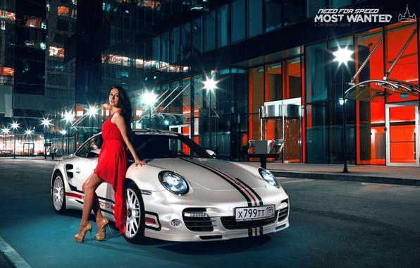 Картинка 911, Porsche, платье, брюнетка, turbo, nfs, most wanted, smotra
