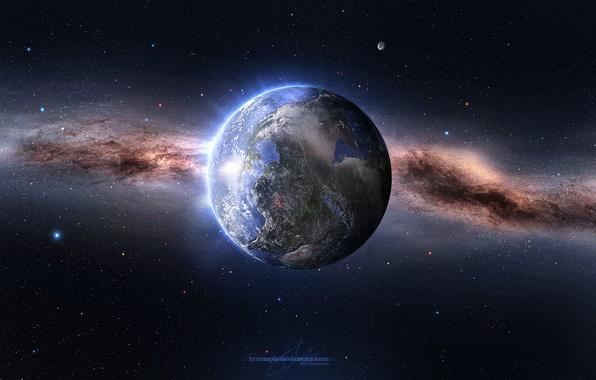 Картинка Звезды, Планета, Космос, Земля, Millions of Years