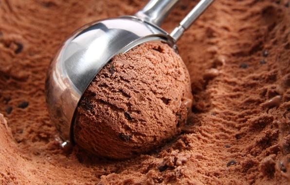 Картинка шарик, мороженое, сладости, десерт, сладкое, шоколадное