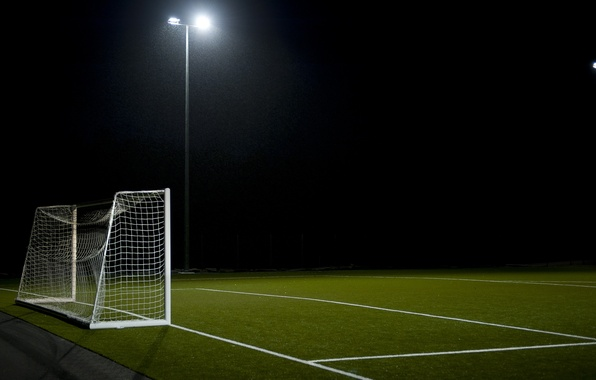 Картинка поле, футбол, спорт, ворота