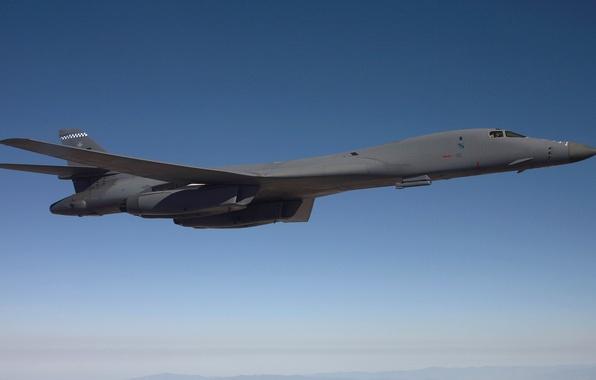 Картинка небо, полет, самолет, бомбардировщик, B-1B