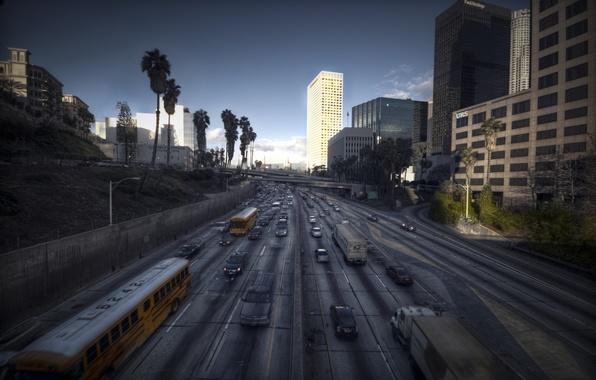 Картинка пейзаж, город, Лос-Анджелес, калифорния, Los Angeles, L.A., City of Angels