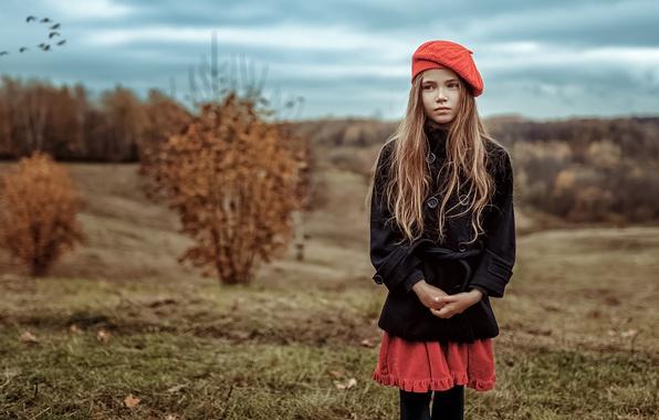 Картинка Взгляд, Осень, Девочка, Настроение, Кира Яненко