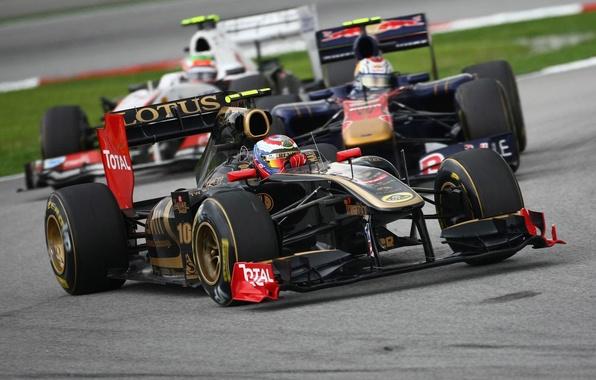 Картинка Фото, Скорость, Гонка, Трасса, Formula-1, Болид, Формула-1, Трек, Автодром, Международный, Сепанг, Renault R31, Vitaly Petrov, …
