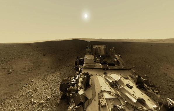 Картинка NASA, Sun, Mars, Curiosity