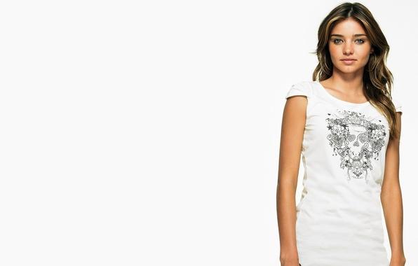 Картинка модель, белый фон, шатенка, miranda kerr, Victoria's Secret Angels, миранда керр