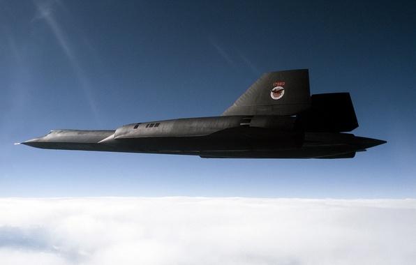Картинка Небо, Облака, Фото, Полет, Высота, США, ВВС, Blackbird, Lockheed, SR-71, Сверхзвуковой, Стратегический, Разведчик
