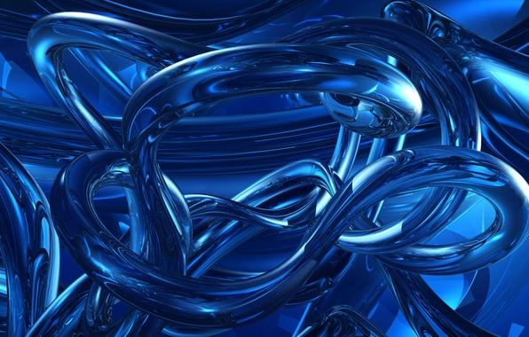 Фото обои цвет, линии, объем, свет, блеск