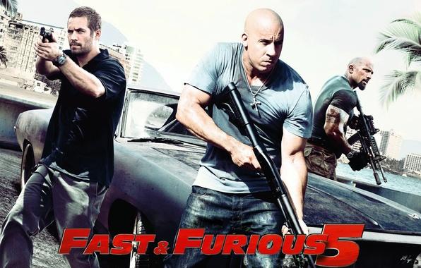 Картинка машина, Dodge, додж, мужики, Charger, paul walker, чарджер, Форсаж 5, отличный фильм, Fast Five, с …