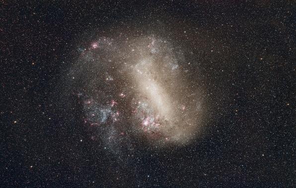 Картинка космос, звезды, Большое Магелланово Облако, карликовая галактика