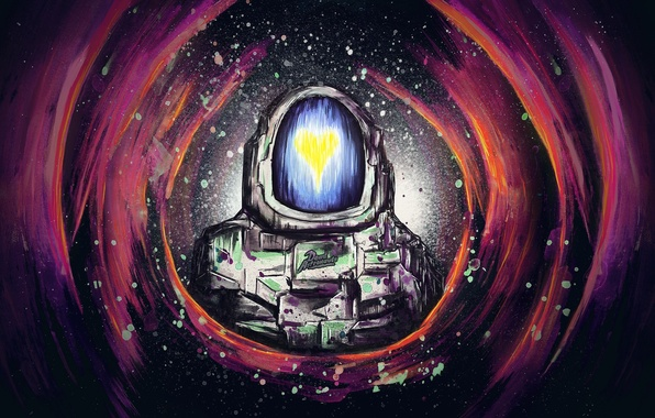 Картинка музыка, сердце, группа, арт, dance, dead astronauts, атронавт