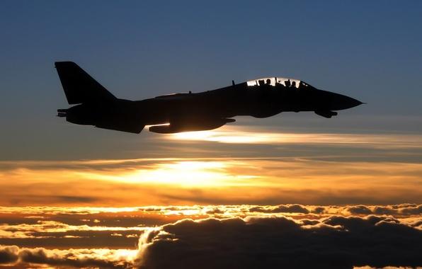 Картинка небо, облака, полет, авиация, самолет, фото, фон, обои, Истребитель, картинка, fly