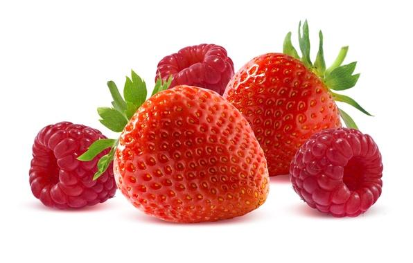 Картинка ягоды, малина, еда, земляника, клубника