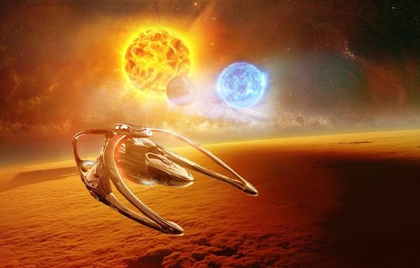 Картинка Andromeda, Space, Sun, Ascendant