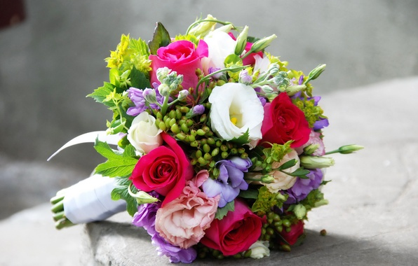 Картинка цветы, розы, букет, эустома