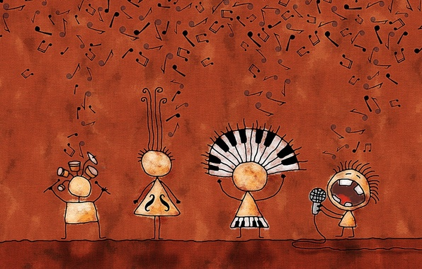 Картинка ноты, музыка, группа