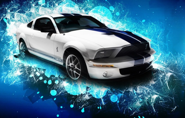 Фото обои машина, Mustang, Ford, Shelby, GT500