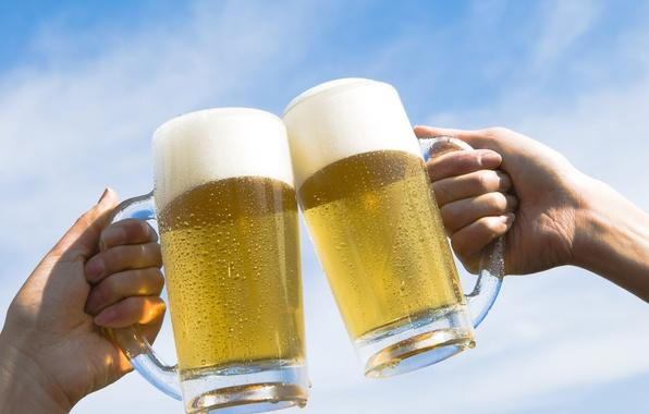 Картинка небо, пиво, кружка