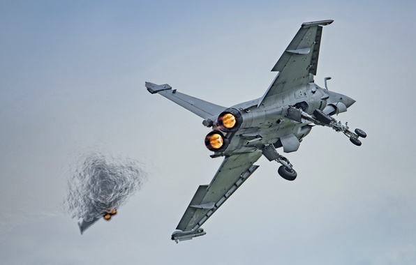 Картинка небо, оружие, самолёт, Rafale M