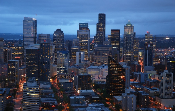 Картинка city, город, USA, Washington, Seattle