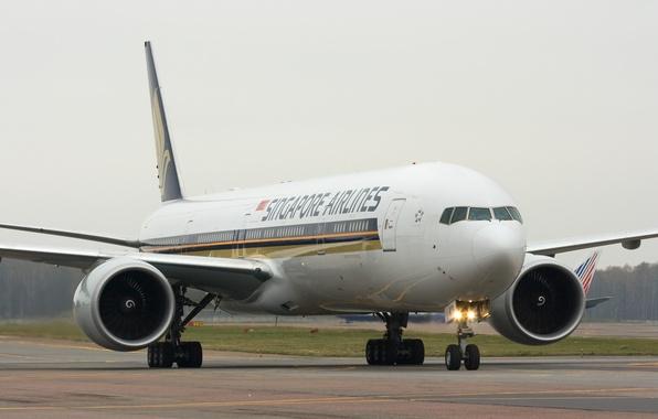 Картинка Самолет, Лайнер, Boeing, Боинг, Airlines, Singapore, 777
