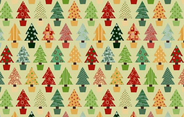 Картинка праздник, игрушки, новый год, дед мороз, ёлки