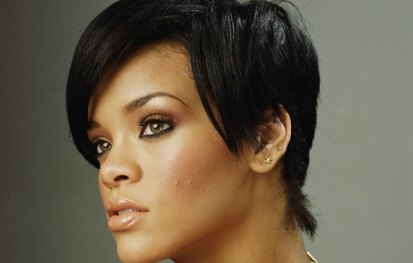 Картинка стрижка, певица, Rihanna, знаменитость, Рианна