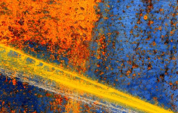 Картинка поверхность, металл, цвет, текстура, ржавчина