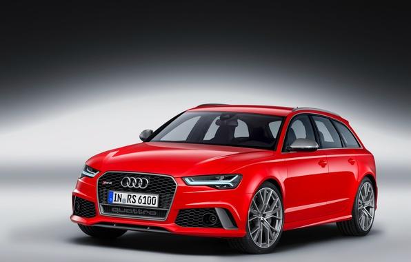Картинка красный, Audi, Red, универсал, Avant, RS 6, ауи