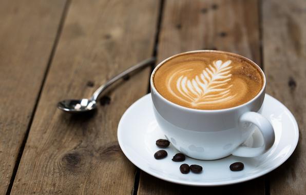 Картинка cup, coffee, spoon, table
