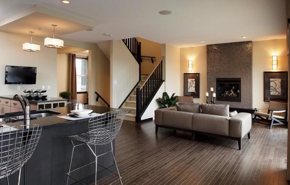 Картинка дизайн, стиль, комната, диван, мебель, стулья, интерьер, лестница