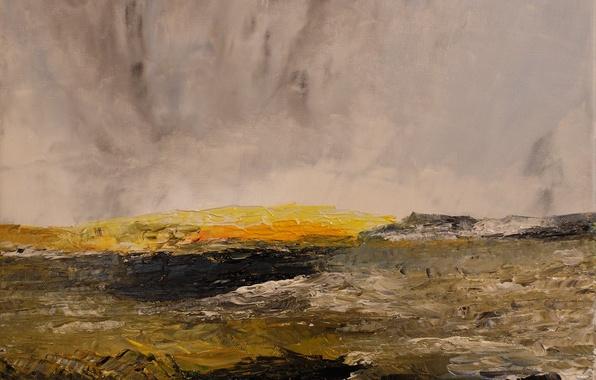 Картинка гроза, поле, горы