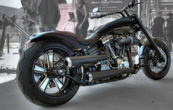 Картинка дизайн, стиль, черный, HDR, мотоцикл, форма, байк